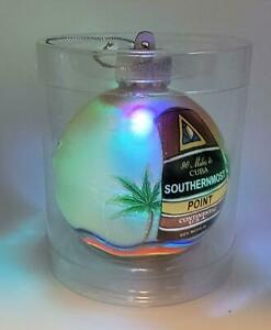 Glowing Key West Florida Southernmost Point Buoy 0 Mile Christmas Tree Ornament