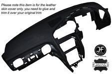 Puntada Gris Tablero Tablero de cuero piel cubierta se adapta Nissan GT-R R35 2009-2015