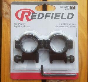 """Redfield 1"""" Weaver Rifle Scope Rings Mounts - HIGH Matte #47316"""
