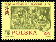 Scott # 1985 - 1973 - Polska 73 Emblem & Lion Knocker From Bronze Gate, Gniezno