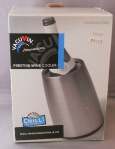VacuVin Rapid Ice Wine Cooler Stainless Chiller New In Box