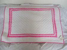 Pottery Barn Kids Harper Pink Nursery Bedding Quilt Nwt