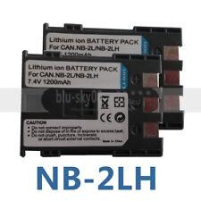 2 pack NB-2LH NB-2L Battery for Canon Rebel XTi XT EOS 350D 400D G7 G9 HV20