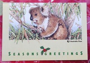 Australia 1992/93/94/95 Post Office Christmas Greetings Cards VGC
