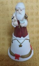 Russ Porcelain Bisque Santa Christmas Mini Bell 15251