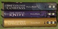 HIS DARK MATERIALS TRILOGY~PHILIP PULLMAN~HARDBACK~THE GOLDEN COMPASS+ 1 1ST ED