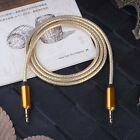 Gold 3.5mm Male to Male Car Aux Auxiliary Cord Stereo Audio Cable for Phone Pod