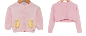 TROTTERS GIRLS CARDIGANS - DELILAH DUCK & CAMILLA PALE PINK - New