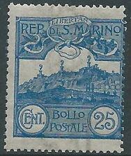 1903 SAN MARINO VEDUTA 25 CENT MNH ** - X4