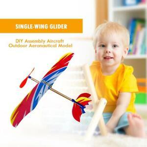 DIY Plane Model Building Kits Educational Toy Elastic Rubber Band Plastic Home