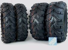 New MassFx ATV Tire 4 set (2) 25x10-12 (2) 25x8-12 6 PLY 25X10x12 25x8x12