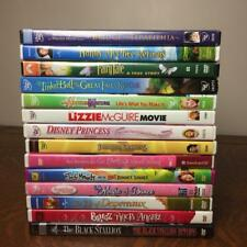 CHILDRENS DVD Lot of 14 Disney FAIRIES Princesses LIZZIE Hannah AMERICAN GIRL