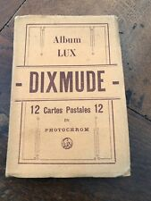 More details for early 1900s dixmude 12 colour detachable  postcards booklet