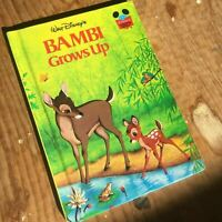 Walt Disney, Bambi Grows Up, 1979 1st First Edition Hardcover Book 70s