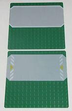LEGO LOT OF 2 GREEN 16 X 16 DOT SIDEWALK MINIFIGURE STREET PLATES