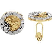 14k Yellow and White Gold Clockwork Cufflinks