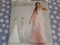 SIMPLICITY 8289 MISSES PROM-FORMAL EVENING BRIDAL DRESS GOWN  PATTERN-12-20