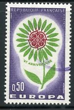 STAMP / TIMBRE FRANCE OBLITERE N° 1431 EUROPA 1964 FLEUR