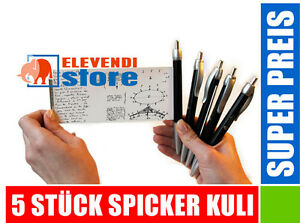 5 Stück - Spicker Kuli Kulli KUGELSCHREIBER // ELEVENDI STORE //
