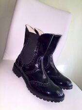 GF FERRE girls patent leather boots sz 31