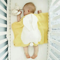 Portable Soft Rabbit Ears Blanket Baby Cotton Pattern Children's Cotton Bunny