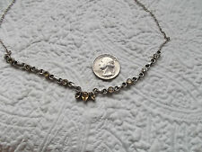 Vintage Sterling Silver and Faceted Citrine Necklace