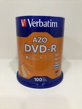 VERBATIM 16X DVD-R 4.7GB Branded Logo 100 pack Spindle 95102 BRAND NEW SEALED