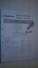 Samsung max330 service manual original repair book stereo mini system radio cd
