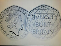 2020 50p COIN DIVERSITY BUILT BRITAIN UNCIRCULATED - OFFICIAL UK ISSUE free post