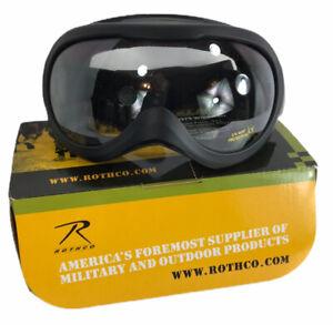 Rothco G.I. Plus Windstorm Goggles Black Anti Fog Anti Scratch 10379 Field Gear