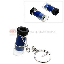 5x Mini Keychain Microscope Plastic Magnifier Pocket Magnifying Tool Travel