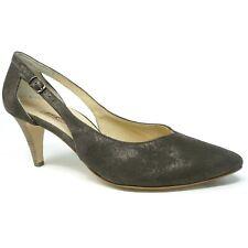 4a47c943cb Paul Green Womens Sasha Pumps Size 7.5 UK 9 US Taupe Metallic Pointed Toe  Nubuck