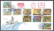 2002 Rudyard Kipling Set di 10 su FDC con COBRA Indiano BIRRA METER MARK