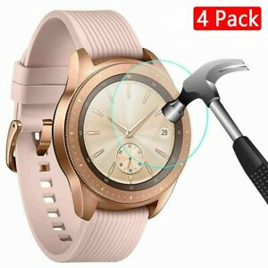 For Samsung Galaxy Smart Watch 42/46mm 4 x Tempered Glass Screen Protector Cover