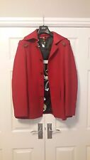 Eddy's Jackets Wool Mix Military Style Red Coat - Size 18