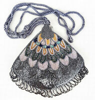 Women Small Crossbody Lace Beaded Shoulder Bag Cosmetic Phone Key Cocktail Purse