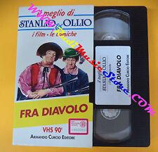 film VHS FRA DIAVOLO Stanlio & Ollio 1992 film comiche CURCIO (F107) no dvd