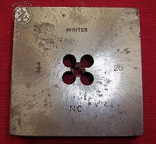 "Vintage Industrial Winter Square Threaded Bolt Die 1/4"" NC 20"