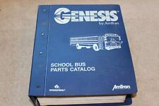Genesis School Bus Parts Catalog Manual copyright 1994