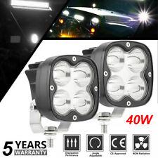 2X 40W LED Arbeitsscheinwerfer 12V 24V Weiß Offroad Scheinwerfer SUV Boot LKW