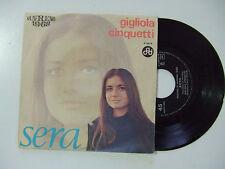 """Gigliola Cinquetti – Sera - Disco Vinile 45 Giri 7"""" Stampa ITALIA 1968"""
