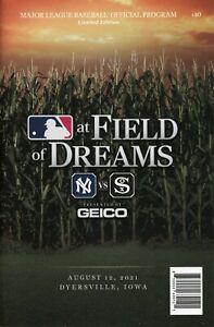 Field of Dreams MLB Baseball Program & Scorecard Yankees White Sox 8/12/21