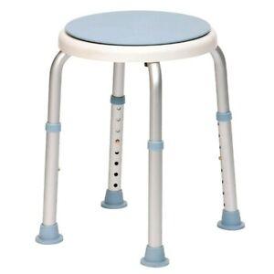 Round Swivel Bath Seat Shower Stool Adjustable Legs - Non Slip Feet Safe Bathing