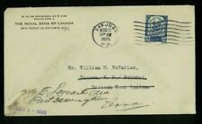 Dominican Republic 1925 Paquebot Cover San Juan, Pr to Nassau franked Scott 235