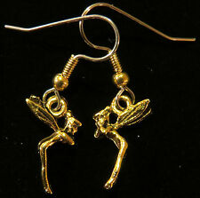 Tinkerbell Earrings 24 Karat Gold Plate Tiny Disney Fairy