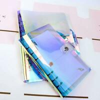 A5/A6/A7 Transparent Bunte PVC-Abdeckung Lose-Blatt-Ring Binder File Folder