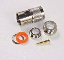 40pcs N Male Clamp (US Stock) Teflon Insulation Nickel Body Gold Pin