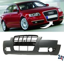 NEW AUDI A6 C6 2005 - 2008 FRONT BUMPER WITHOUT LIGHT WASHER AND PDC HOLES