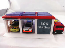 Conway police car fire truck parking lot/garage/alloy car model