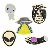 Cute Cartoon Alien Hand Alloy Brooch Pin Badge Enamel Lapel Clothes Decor